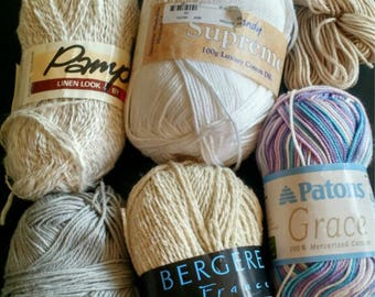 Lot of Vegan Yarn - 7 skeins