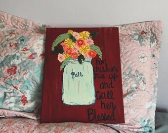 Custom Mason Jar Canvas