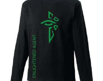 Ingress-Enlightened Long Sleeves T-shirt - available in many sizes and colours
