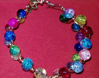 Outside bead braided bracelet