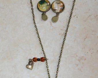 Necklace 45 cm long fancy
