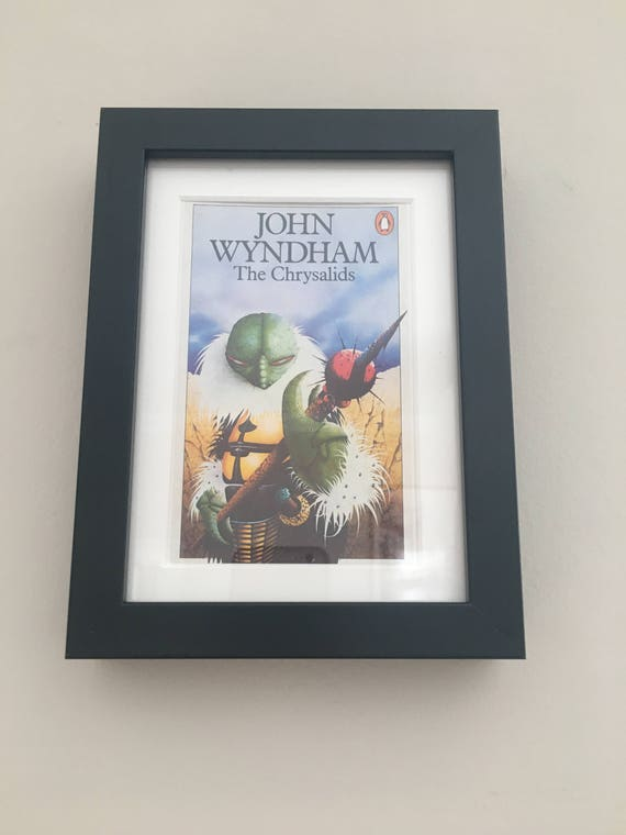 Penguin Book Cover Framed : Classic penguin science fiction book cover print framed the