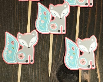 Fiona the Fox Cupcake Toppers