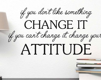 Life Change Vinyl Wall Sticker Inspirational Motivational Quote Wall Decal XL