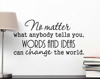 Words School Vinyl Wall Sticker Inspirational Motivational Quote Wall Decal XL