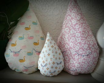 Pillow or decoration family drop fabric