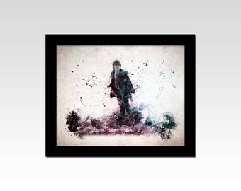 Harry Potter inspired Ron Weasley watercolour effect print
