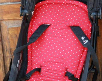 seat stroller liner with strap, stroller pad, pram strap covers, Bugaboo seat, baby carriers&wraps, stroller seat liner, Babyzen Yoyo, red