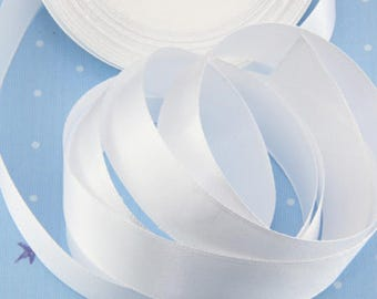 """White Satin Ribbon 1 1/2""""(38mm) wide, 25 yards, for Weddings, Decorations, Festival, Party, Attributes, Holiday, Ceremonial, Birthday"""