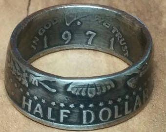 Half Dollar coin Ring Kennedy