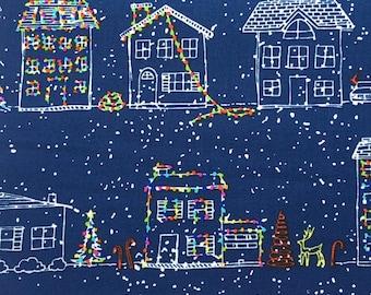 scrub hat pixie style - Christmas houses