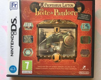 French ds games Professor layton and nintendo ds game Pandora's box