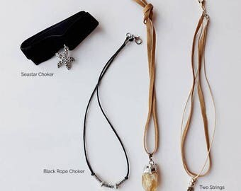 Elegant touches in romantic necklaces for her.