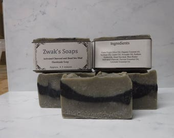 Handmade Soap with Dead Sea Mud and Activated Charcoal
