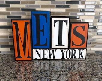 New York Mets Wood Block Set