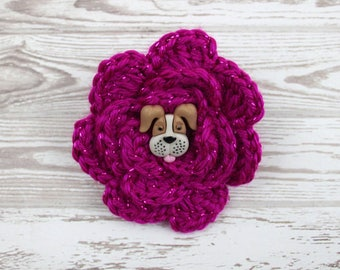 Our Fuchsia Starts Today Crochet Flower Accessory