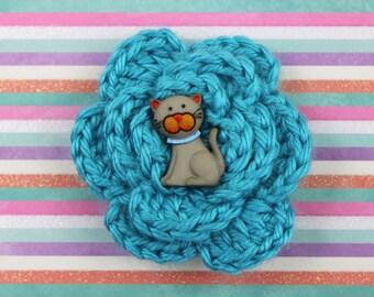 Smitten Kitten Crochet Flower Accessory