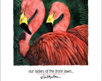 """Will Bullas art print """"our ladies of the front lawn... hand-signed by the artist from his Studio / gift"""