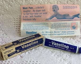 Vintage Vaseline Petroleum Jelly NOS in Box Chesebrough-Ponds USA