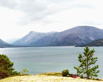 A coastline in Narvik Norway Digital Downlad, Stock Photo