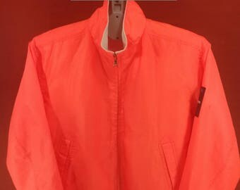 Vintage Helly Hansen Jacket Windbreaker Life Jacket Neon Sweater Orange Colour Hip Hop Rappers Nike Windbreakers Numbernine