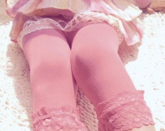 Cute ballet style footless lace tights