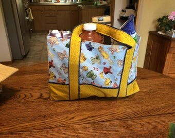 Retro Paper-doll Market Tote / Grocery / Shopping Bag
