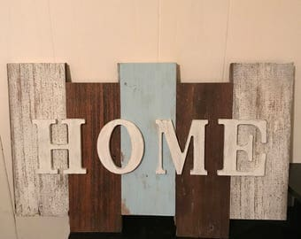 "Wood ""Home"" Sign"