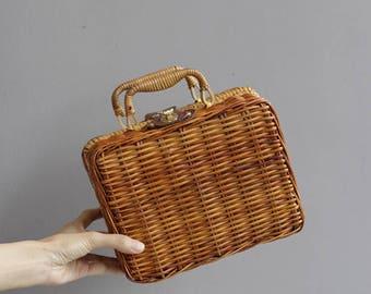 Vintage small weaved basket