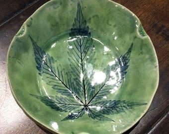 Green Blue tri rest single leaf tray