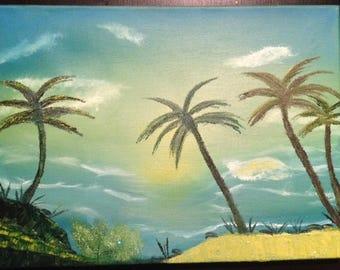 Ocean View oil painting