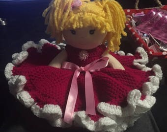 Doll and crochet dress