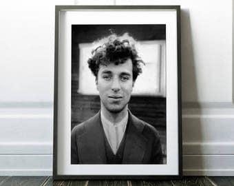 Charlie Chaplin / Vintage Chaplin photo / Charlie Chaplin print / Charlie Chaplin art / Charlie Chaplin decor / Vector print