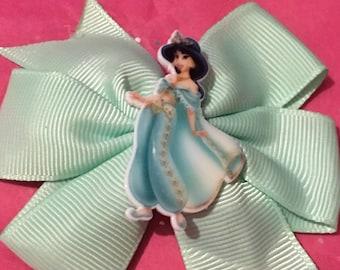 Jasmine aladdin hair bow clip