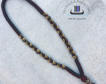 Gathering of the Dead paracord necklace - one-off