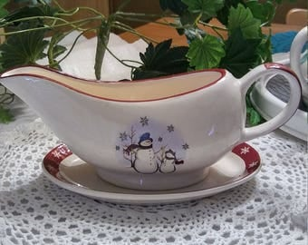 Royal Seasons Stoneware Gravy bowl and Saucer