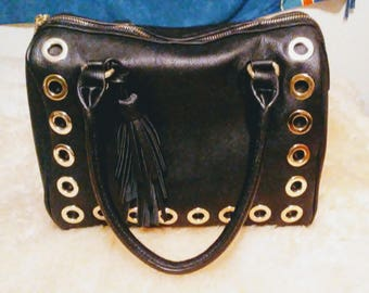 Black Mod Satchel Purse