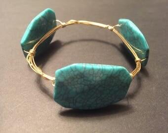 Rectangle Stone Bangle