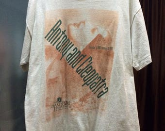 Vintage 1997 Antony And Cleopatra Movie Shirt /Size L /Free shipping/ The Shakespeare Theatre Willaim Shakespeare Romantic Drama Movie Film