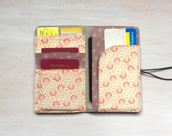 Passport cover, passport holder, travel organizer, passport case