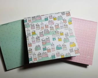 Town and pattern mini notebooks