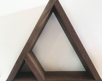 Triangle Wall Shelf | Walnut Shelf | Triangle Shelf