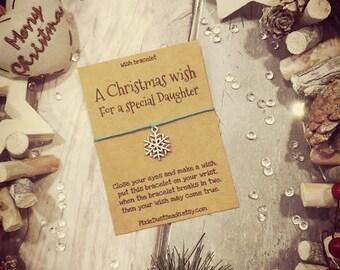 Daughter Christmas Wish Bracelet, A Christmas Wish for a special Daughter, Christmas gift for Daughter, Daughter wish bracelet , Xmas Gift