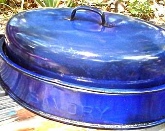 Blue Enamel Savory Roaster
