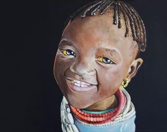 A Kenyan Girl Print 29.7x42 (cm)