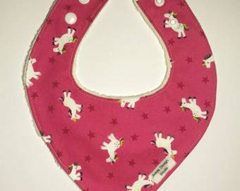 Baby dribble bib - bandana - pink unicorn - baby shower gift idea