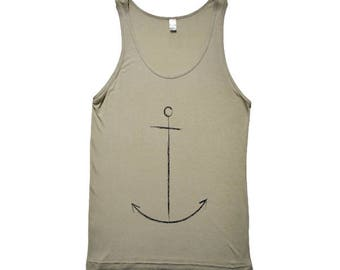 Twig and Boat American Apparel Anchor Unisex Tank
