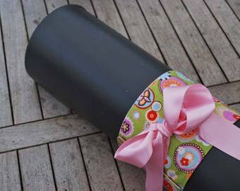 Yoga mat wrap with nice bow to carry your yoga mat, yoga mat carrier, yoga mat strap, yoga mat bow