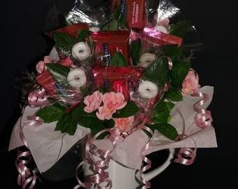 Candy Bouquet Gift Arrangement - Pink - Ghirardelli