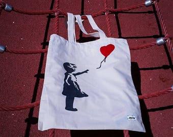 """Hand-made bag """"Banky girl with balloon"""""""